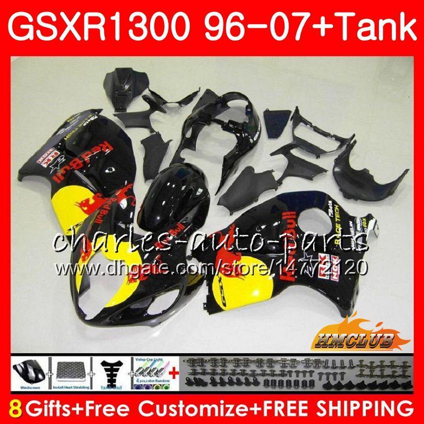 SUZUKI GSXR-1300 용 GSXR1300 Hayabusa 옐로우 레드 핫 96 97 98 99 00 01 07 24HC.76 GSXR 1300 1996 1997 1998 1999 2000 2001 2007 페어링