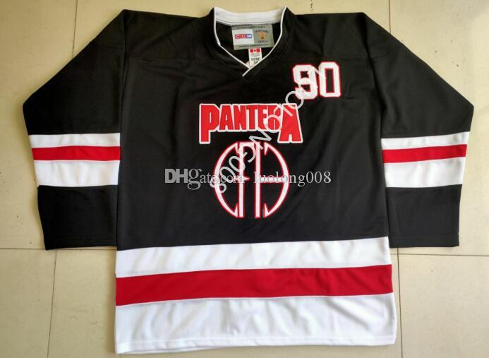 Pantera - Hockey Jersey Hokeyi Jersey Nakış Dikişli herhangi numarasını ve adını özelleştirme