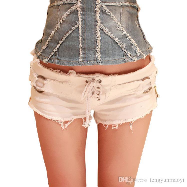 2019 новое лето европейская и американская мода сексуальная низкая талия отверстие дамы джинсовые шорты тенденция дизайн молния джинсовые шорты