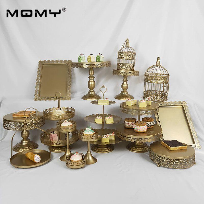 15 جهاز كمبيوتر شخصى عرض الزفاف 3 المستوى مجموعة كب كيك صينية الفاكهة 3-طبقة الذهب الوردي الأبيض يتوهم الحلوى كعكة الدانتيل حامل