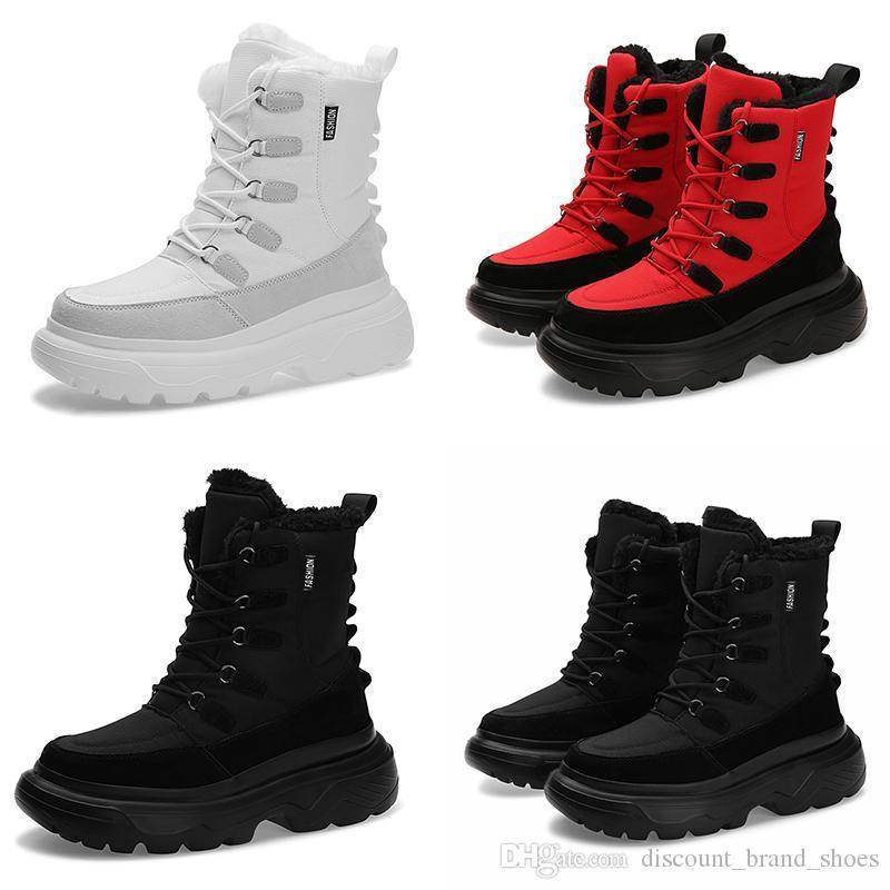 2020 cálida ágil de encaje del diseñador del invierno suave type4 triples blanco negro hombre rojo chico hombres Botas para hombre zapatillas de deporte de los formadores de arranque zapatos para caminar al aire libre
