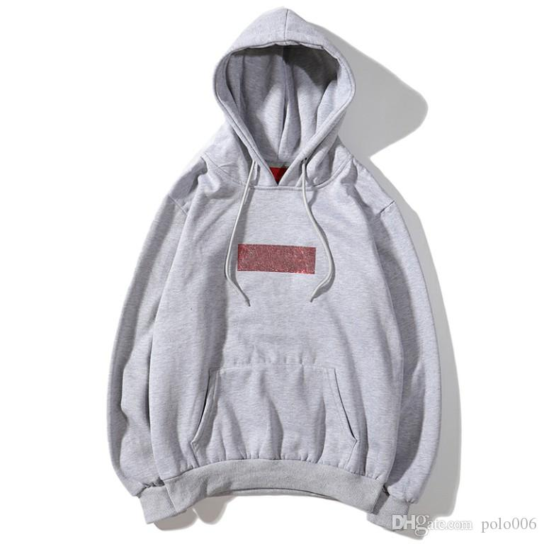 Yeni Ortak Markalı Elmas KUTUSU Logo Hoodie Hip Hop Streetwear Klasik Marka Tasarımcısı Marka Polar Yün Pamuk Hoodie Çift Kapşonlu Sweatshirt