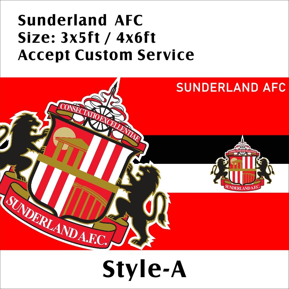 Inghilterra Sunderland AFC 3 * 5ft / 4 * 6 piedi Custom Design Poliestere EPL Football Sport Team Flag Banner decorazioni di volo a fan