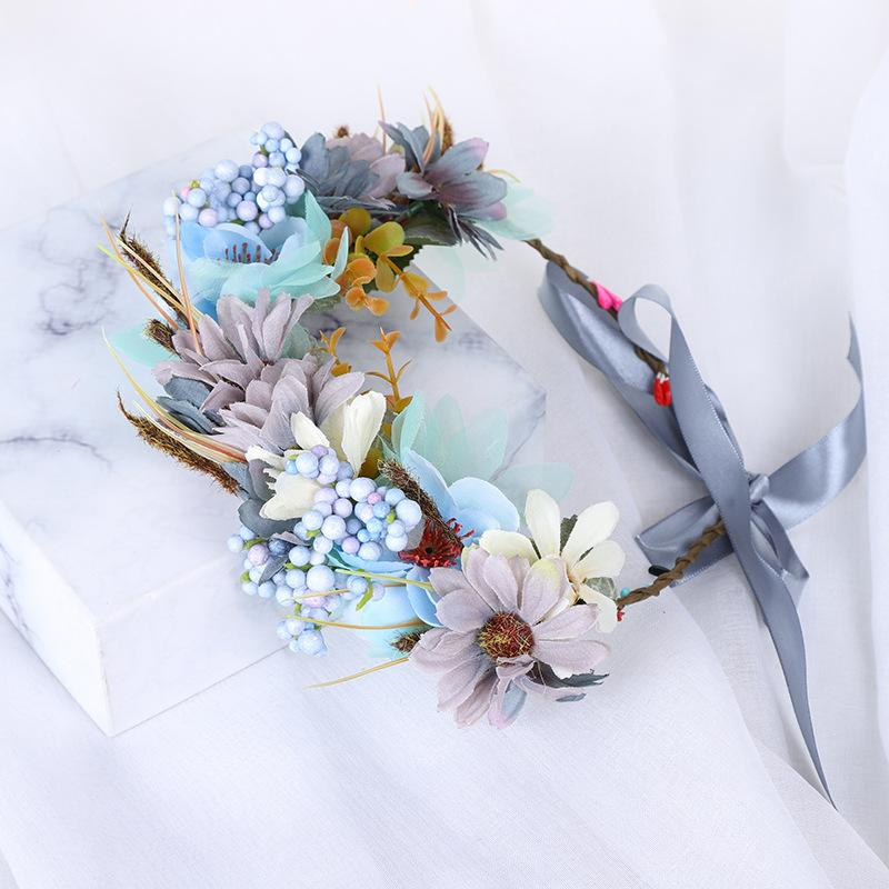 2020 New Artificial Wreath Headband With Children's Rattan Flower Flower Girl Hair Accessories