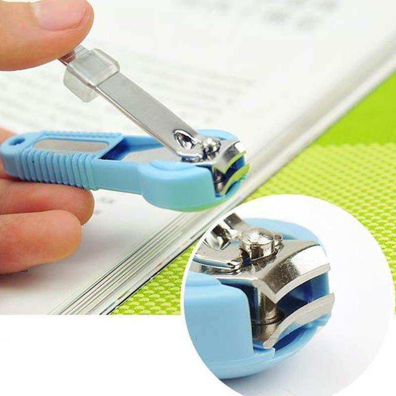 10 pçs / lote cortador de unhas com lupa dedo de bolso dedo do pé cortador cortador aparador manicure ferramenta pedicure cuidados tesoura