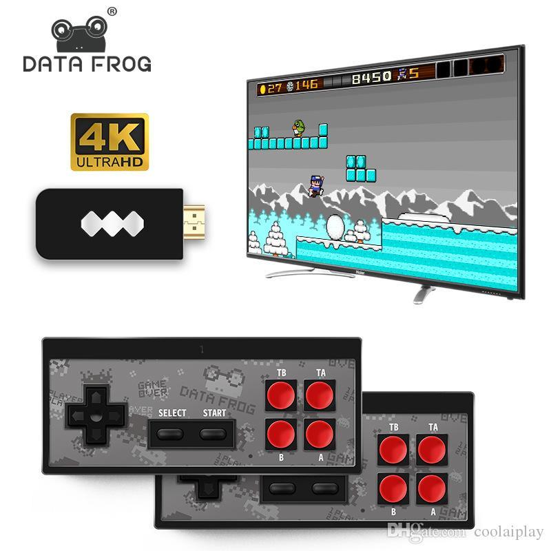 Neueste 4K HD Video Game Player Wireless Handheld-Spiel Joystick HDMI 600 / AV 568 Retro Classic Games drahtlose bewegliche Spielkonsolen-Kind-Geschenk