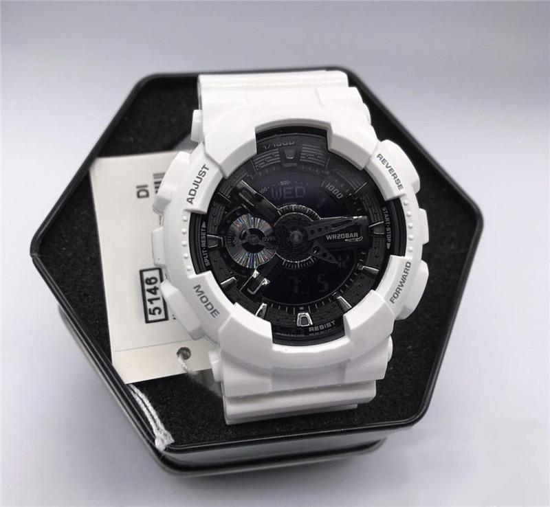 Dropshipping 110 Uhren mit Original-Boxen Alle Accessoires Wasserdichtes G Stil Shock Uhren Alle Funktionen arbeiten Autolight Sport Herrenuhr