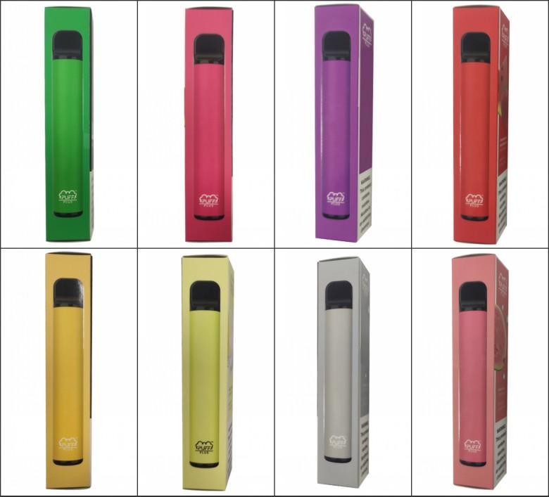 퍼프 플러스 바 일회용 vape 펜 장치 전자 담배 포드 스타터 키트 550mAh Battey 3.2ml 카트리지 빈 기화기 포장 키트