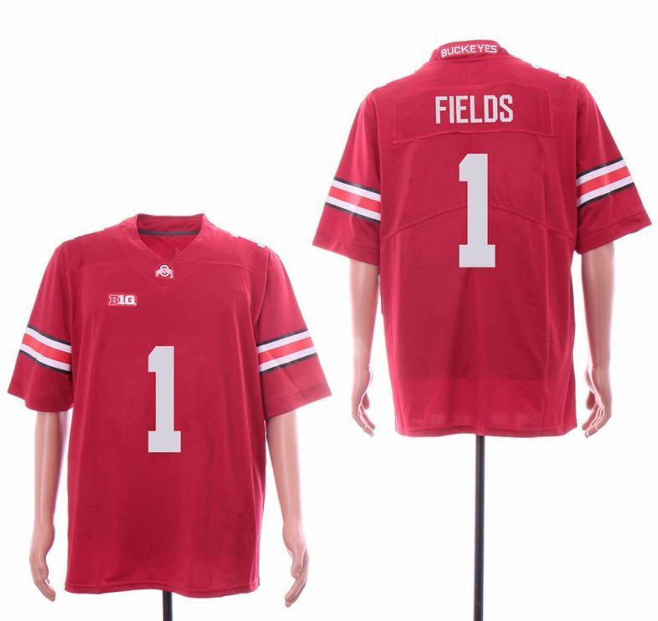 2019 College Justin Fields Ohio State Buckeyes Jersey NCAA 150e Adult Patch Hommes Jersey Tous Cousu Taille cadeau S-3XL
