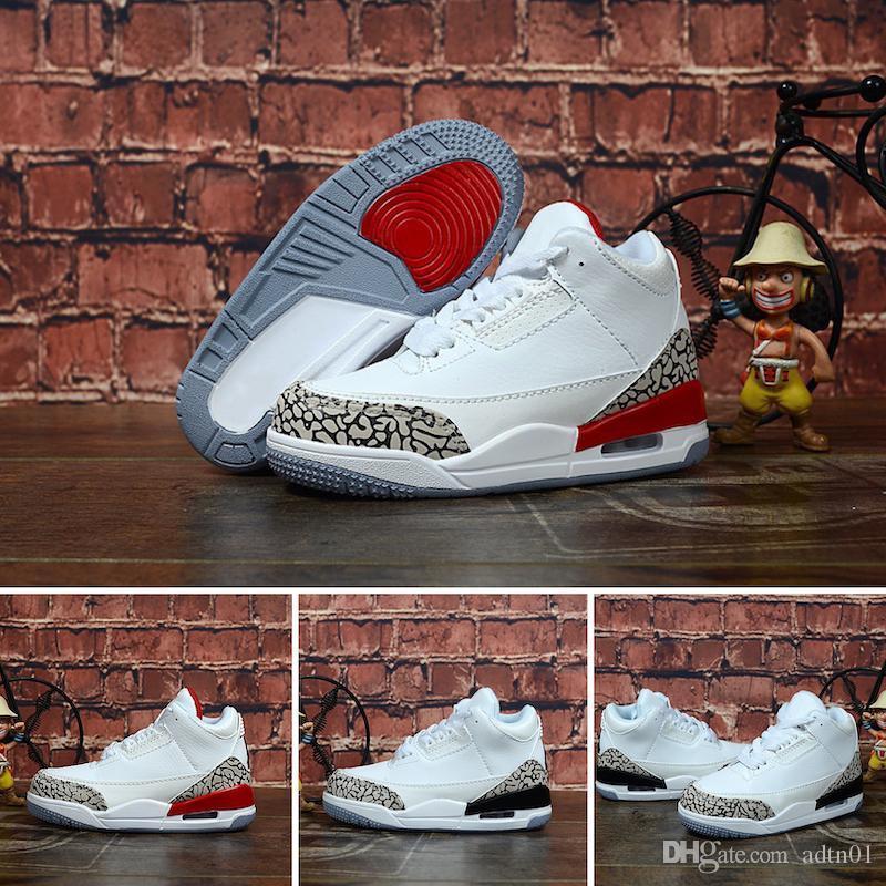 2019 bambini Athletic Shoes bambini J3 scarpe da basket lupo grigio Bambino J3 Sport Sneakers per Boy ragazza del bambino Chaussures