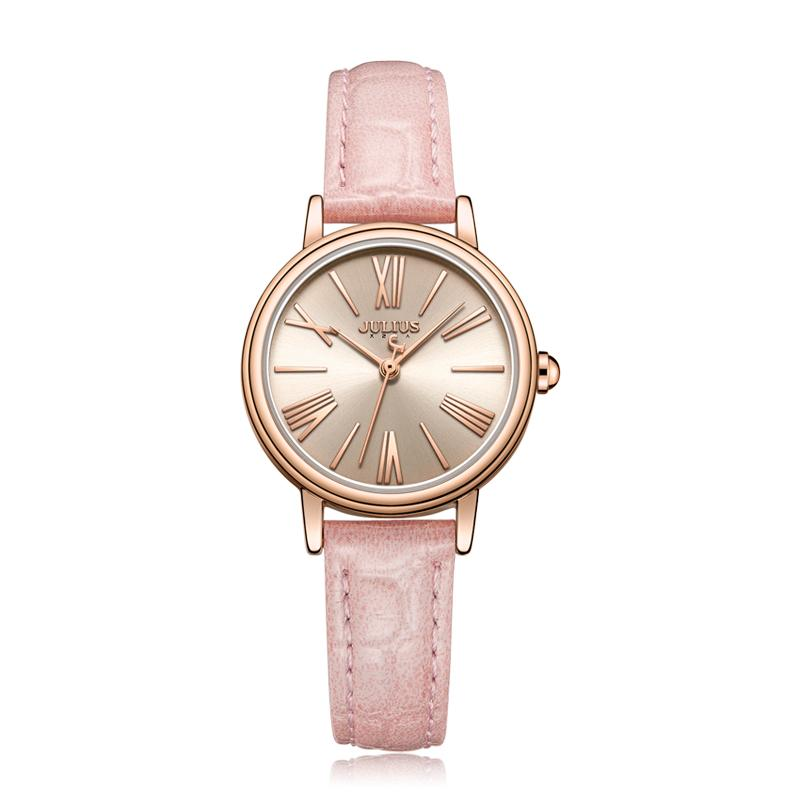Julius montre OL Ladies Business Watch Roma Numéro Quartz-Watch Montre bracelet en cuir Mode féminine 30M imperméable Reloj JA-1082