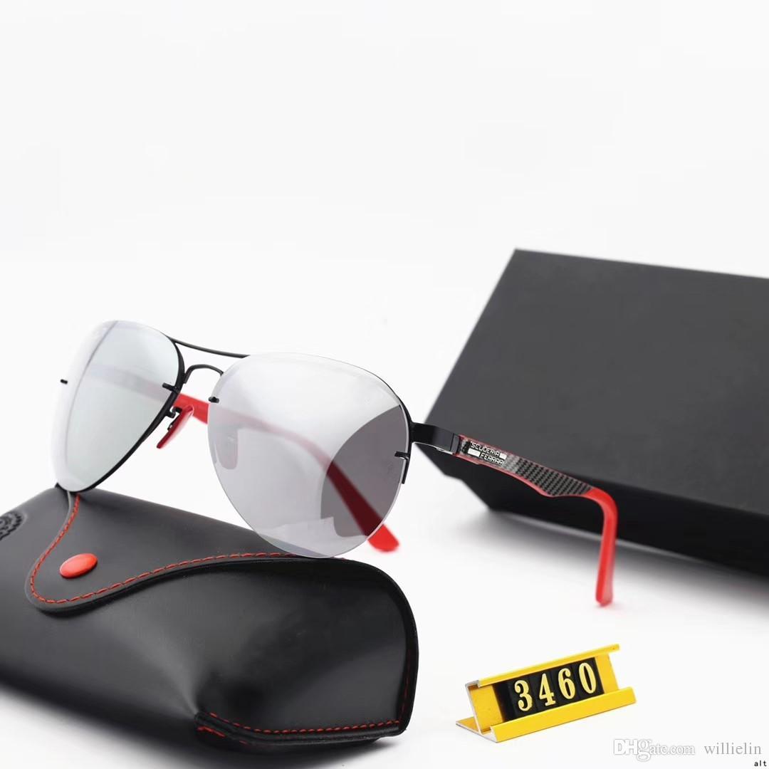 Occhiali da sole design - nuovi occhiali da sole 2019 con lenti rana per uomo e donna - occhiali da sole fashion 3460M