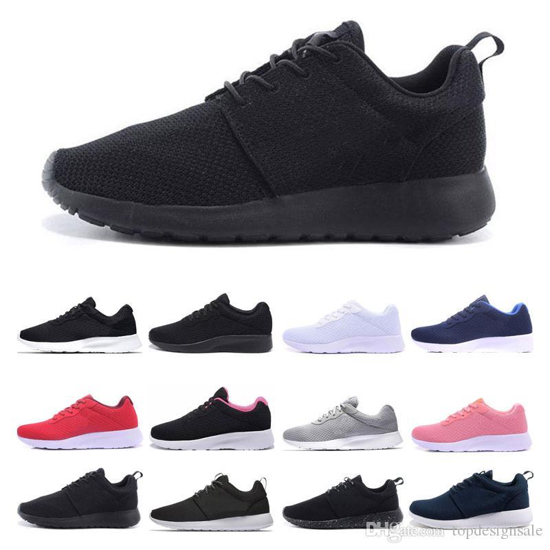 nike Tanjun Run zapatos corrientes de los hombres a mujeres de bajos negro del envío tamaño fresco deportes olímpicos de Londres la zapatilla de deporte gratuito