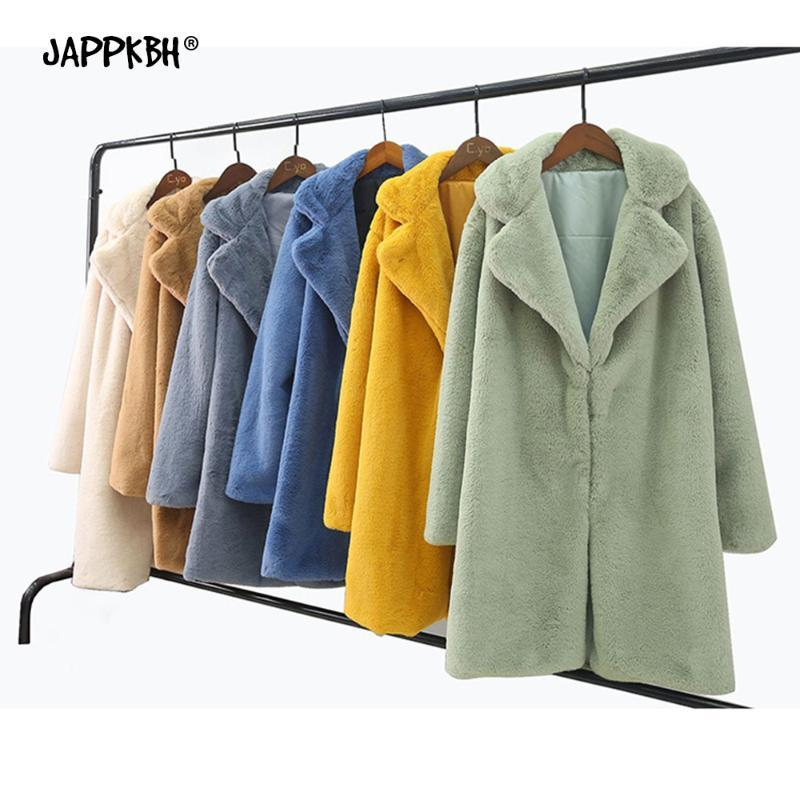 Inverno Faux Fur Coat Donne 2019 di lusso casuale Plus Size spessore caldo lungo allentato del cappotto di pelliccia oversize Giubbotti per la donna della peluche Outwear 4XL