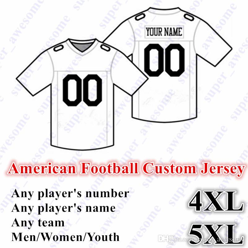 5XL NEW American Football CUSTOM Jersey All 32 Team Customized Any Name Any Number Size S-6XL Mix Order Men Women Youth Kids Stitched