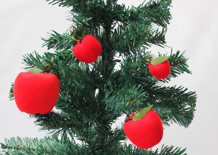 12pcs Año Nuevo Árbol de Navidad colgante de regalo de la decoración 3 cm de Apple colgantes regalos de boda Adornos Festival de Navidad Decoraciones