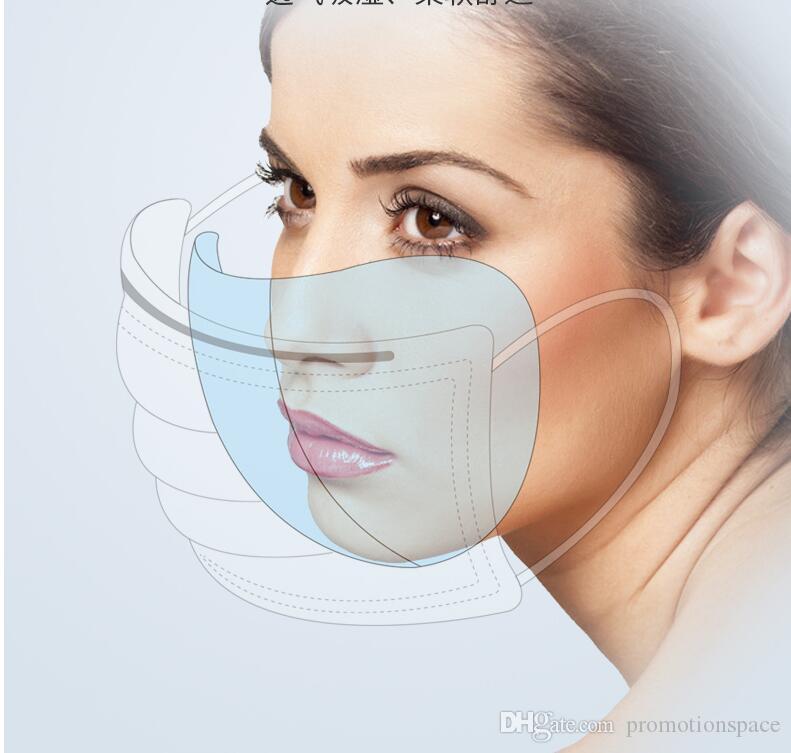 50 أقنعة قطع المتاح الوجه الغبار الفم قناع مضاد PM2.5Anti الغبار التنفس أقنعة السلامة العناية بالوجه مطاطا