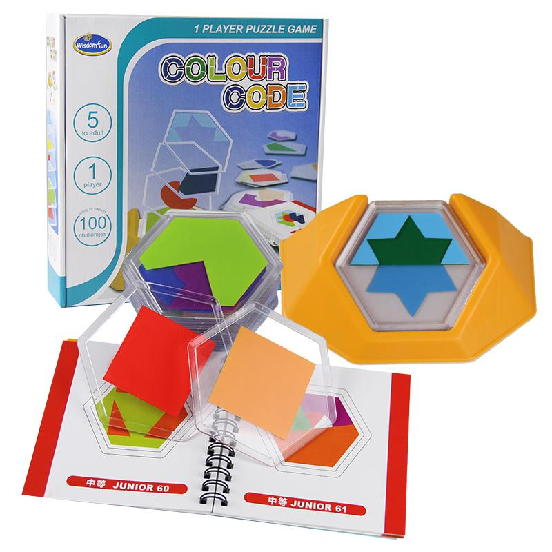 Logic game Board game 100 Challenge Color Code Puzzle Games Tangram Puzzle Toys for Children Develop Spatial Reasoning Skills