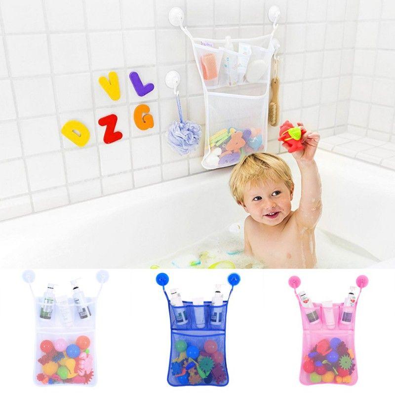 Saco de Armazenamento de brinquedos para Crianças Super Capacidade suprimentos de banho Do Bebê Crianças Banho De Banheira Brinquedo Saco De Armazenamento De Malha Net Organizador Titular