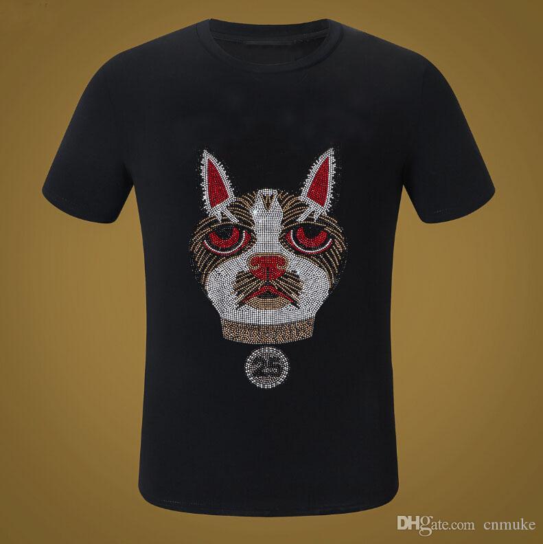 Homens Verão diamantes cor Casual algodão de manga curta camiseta homem de Hip Hop e mulheres Hot broca Streetwear Oversized
