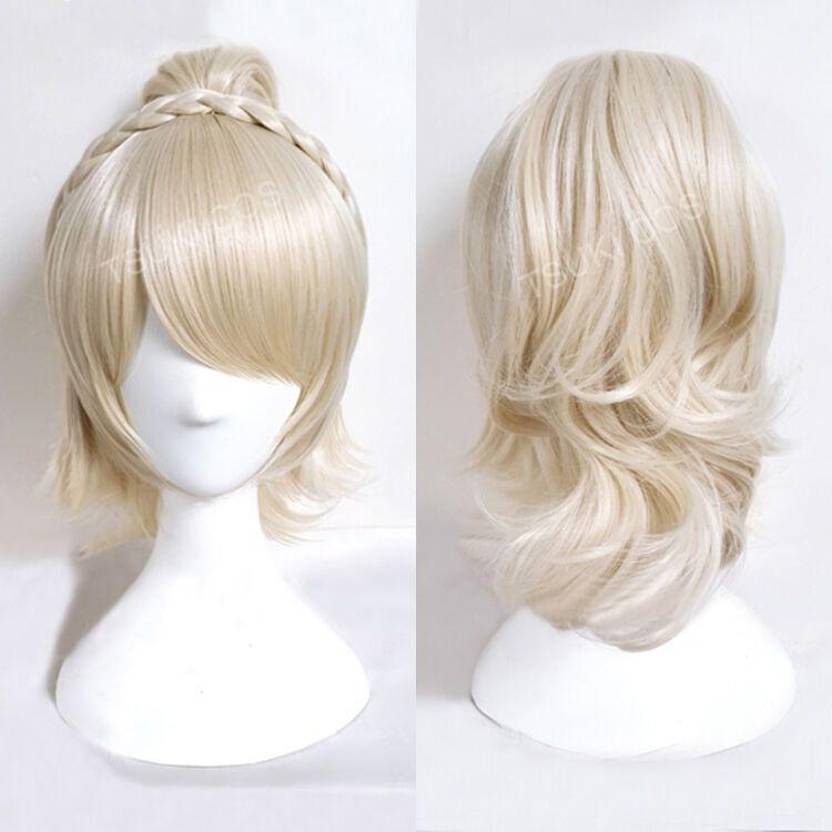 Ücretsiz shippingFinal Fantezi XV FF15 Lunafreya Nox Fleuret Prenses Luna Cosplay Saç Peruk