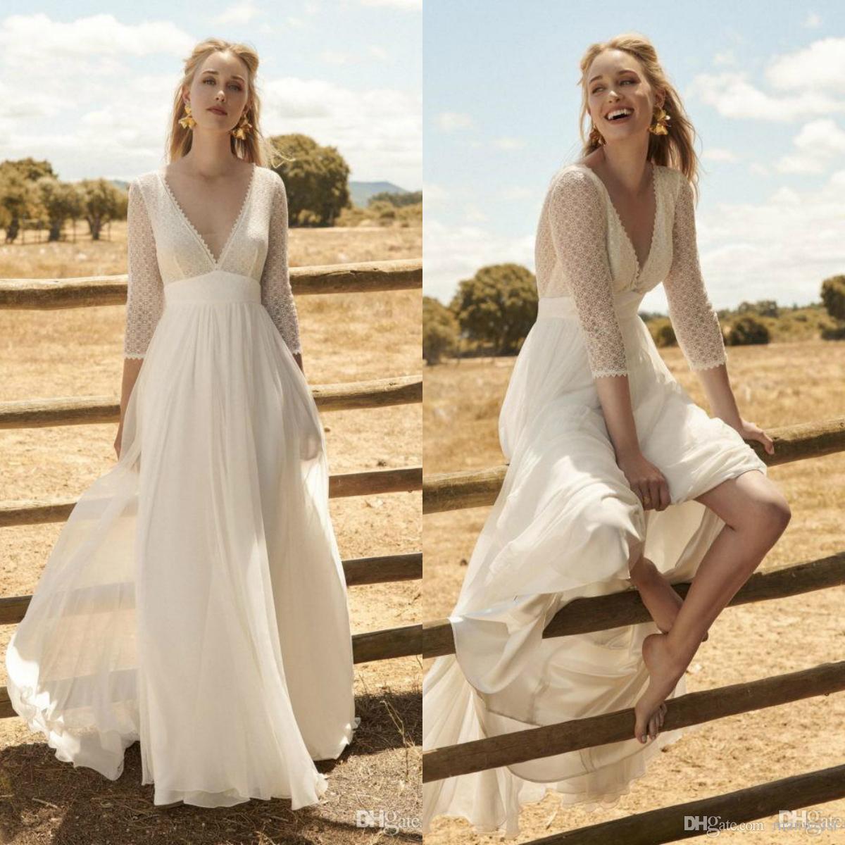 Acheter Rembo Styling 2020 Robe Bohème Mariage