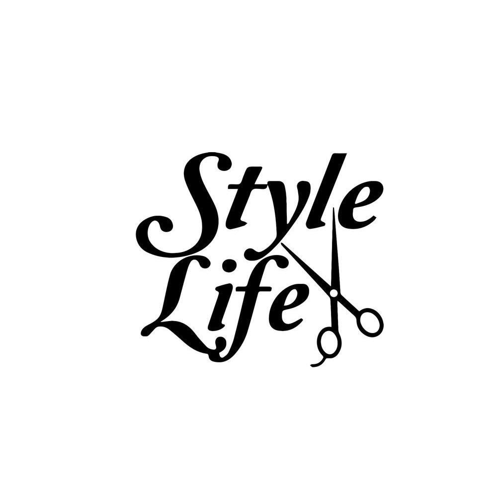 Style Life Barber Hair Stylist Home Decor Car Truck Window Decal Sticker