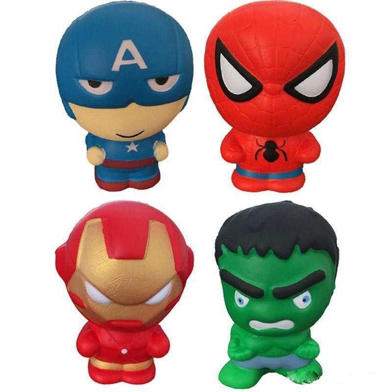 jouets spongieuses Rising Lent The Avengers Iron Man Captain America Spiderman Hulk squeeze Toy Squishies Stress Relief Jouets pour enfants