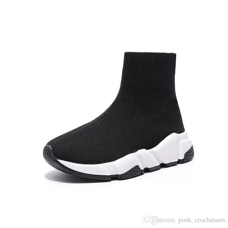 Детская обувь дизайнер Chaussures залить enfants носки, как обувь кроссовки малышей молодежи размер мальчиков обувь высокого качества Детская обувь унисекс