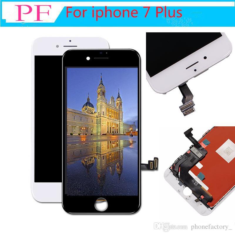 IPhone 7 Için LCD Ekran Dokunmatik Ekran Digitizer Tam Meclisi iPhone 7 Için artı Ekran Değiştirme 100% Test Yok Ölü Piksel