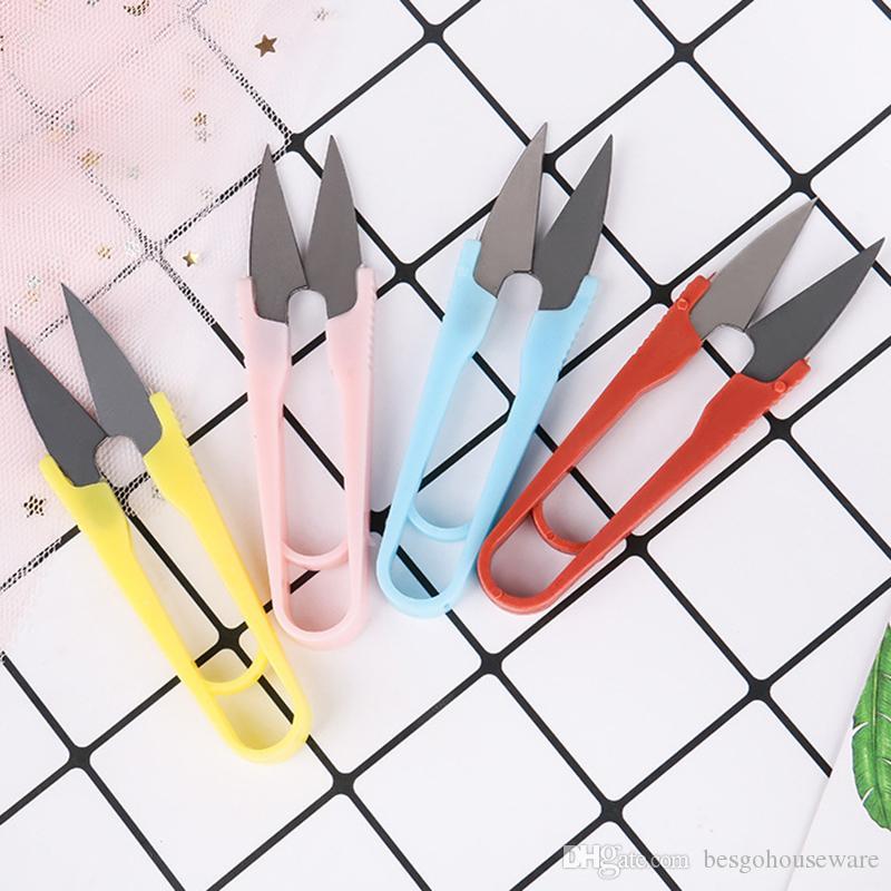 Мини швейные Ножницы Портативный резки резьбы U-образный Scissor вышивки крестом Ножницы Главная Clipper Tailor Одежда Многоцветный Scissor BH2377 ZX