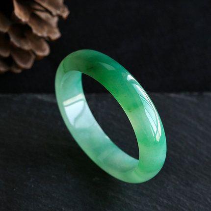 zheru joyas naturales brazalete de jade de Birmania 54mm-61mm joyería elegante pulsera de mujer mejor regalo