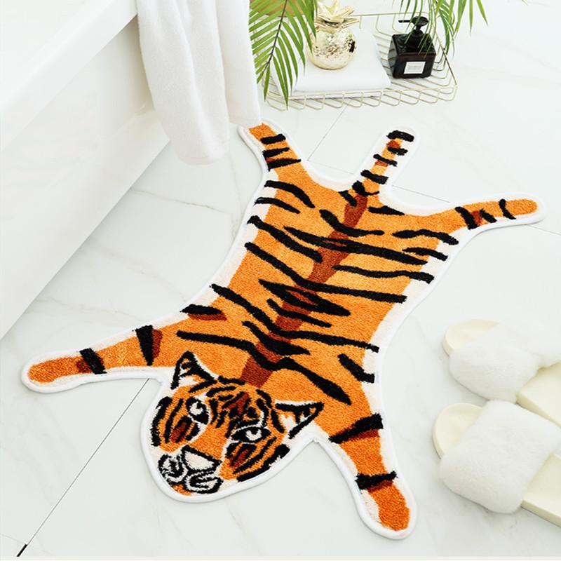 Nueva impresión del tigre alfombra animales Alfombras antideslizantes tapis puerta suelo estera de poliéster para el hogar dormitorio salón tapete alfombra moderna de estilo