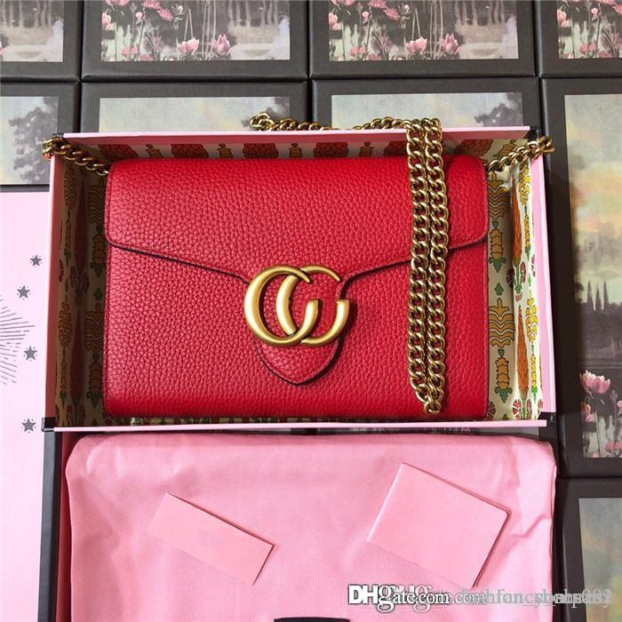 Women fashion cowhind with Top Hardware accessories handbag Leather Purse card Single shoulder bag,With complete packaging