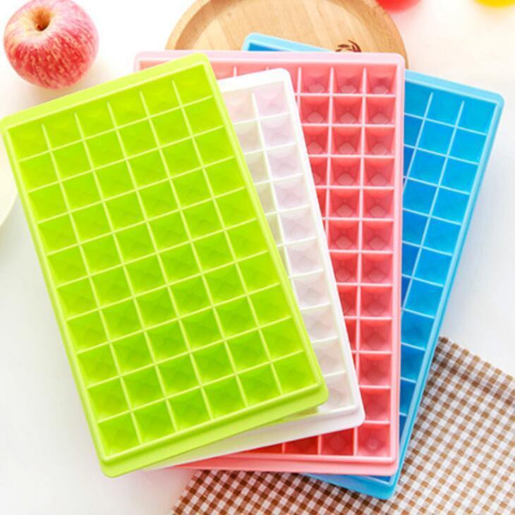 60 Grids Mold 96 Grades Ice Cube Moldes Makers Food Grade Ice Cube bandeja fácil libertação DIY Fruit Ice Início Acessórios de cozinha LX1741