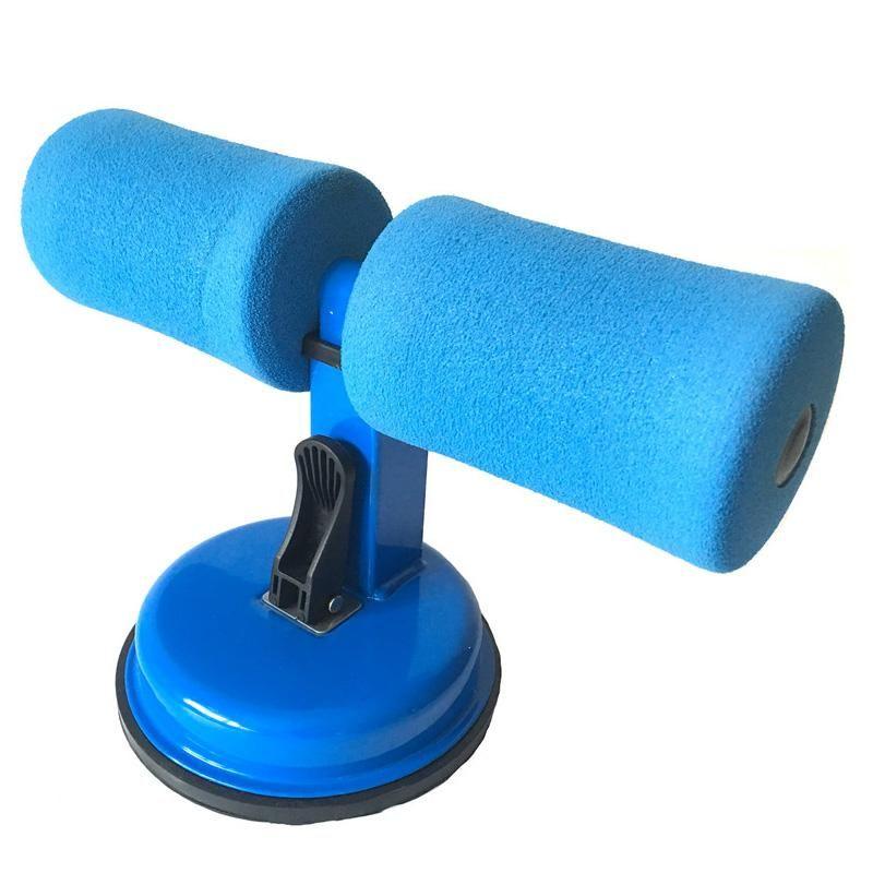 TOP! -Strong sucção Mulheres Homens Sit Up Exerciser home fitness Crunches Arm cintura Abdomen Exercise Equipment Azul