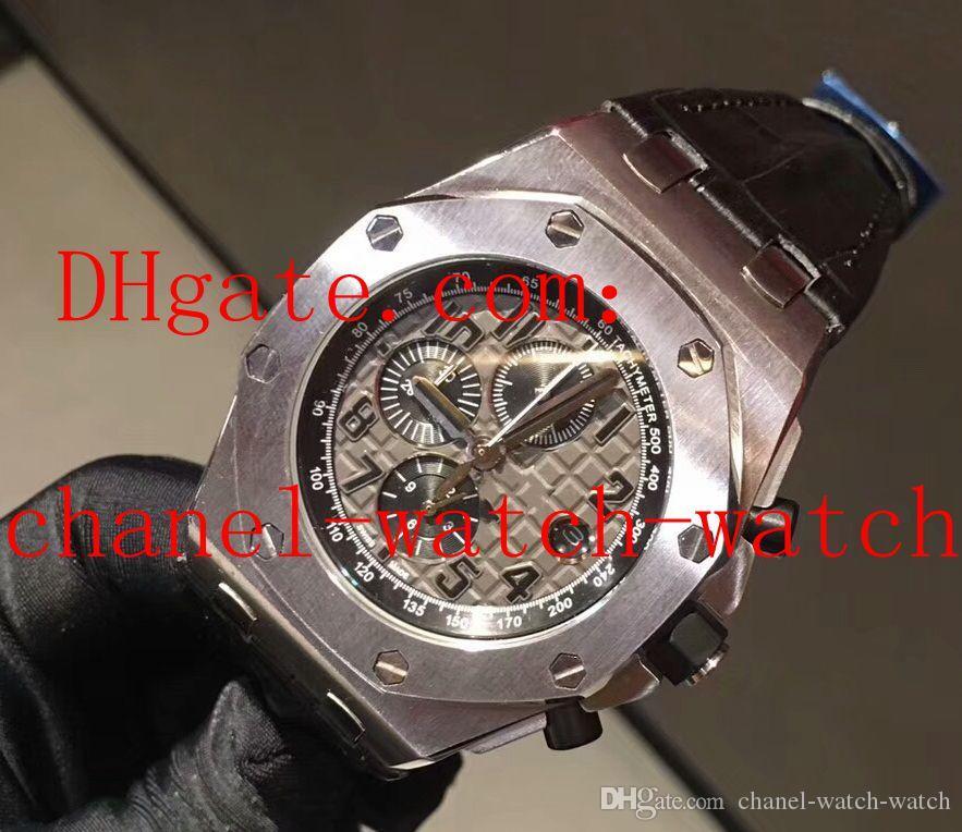 Montres-bracelet de sport pour homme de montre-bracelet plongeur noir 42mm en cuir noir offshore