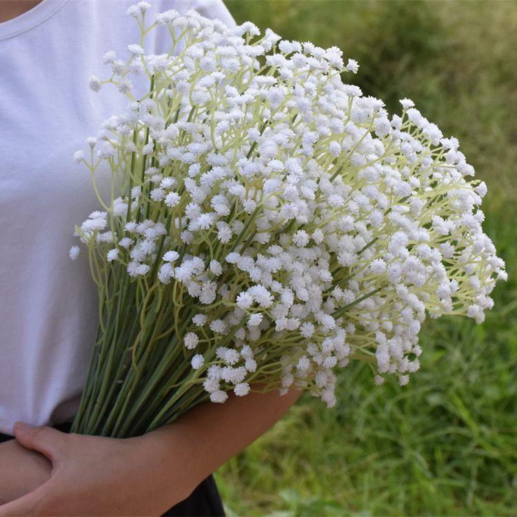 Simulação Gypsophila paniculata tiro Props noiva mão Bouquet de flor de seda Gypsophila paniculata Bouquet do casamento