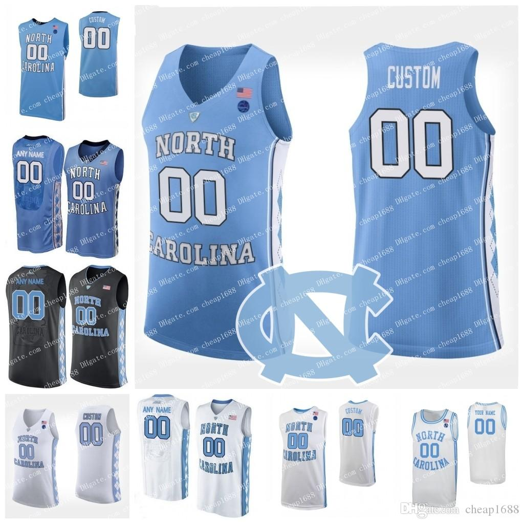 timeless design 8451e 485d4 2019 Custom North Carolina Tar Heels College Basketball Any Number Name  Blue White Black Cole Anthony Armando Bacot Nassir Little Coby UNC Jersey  From ...