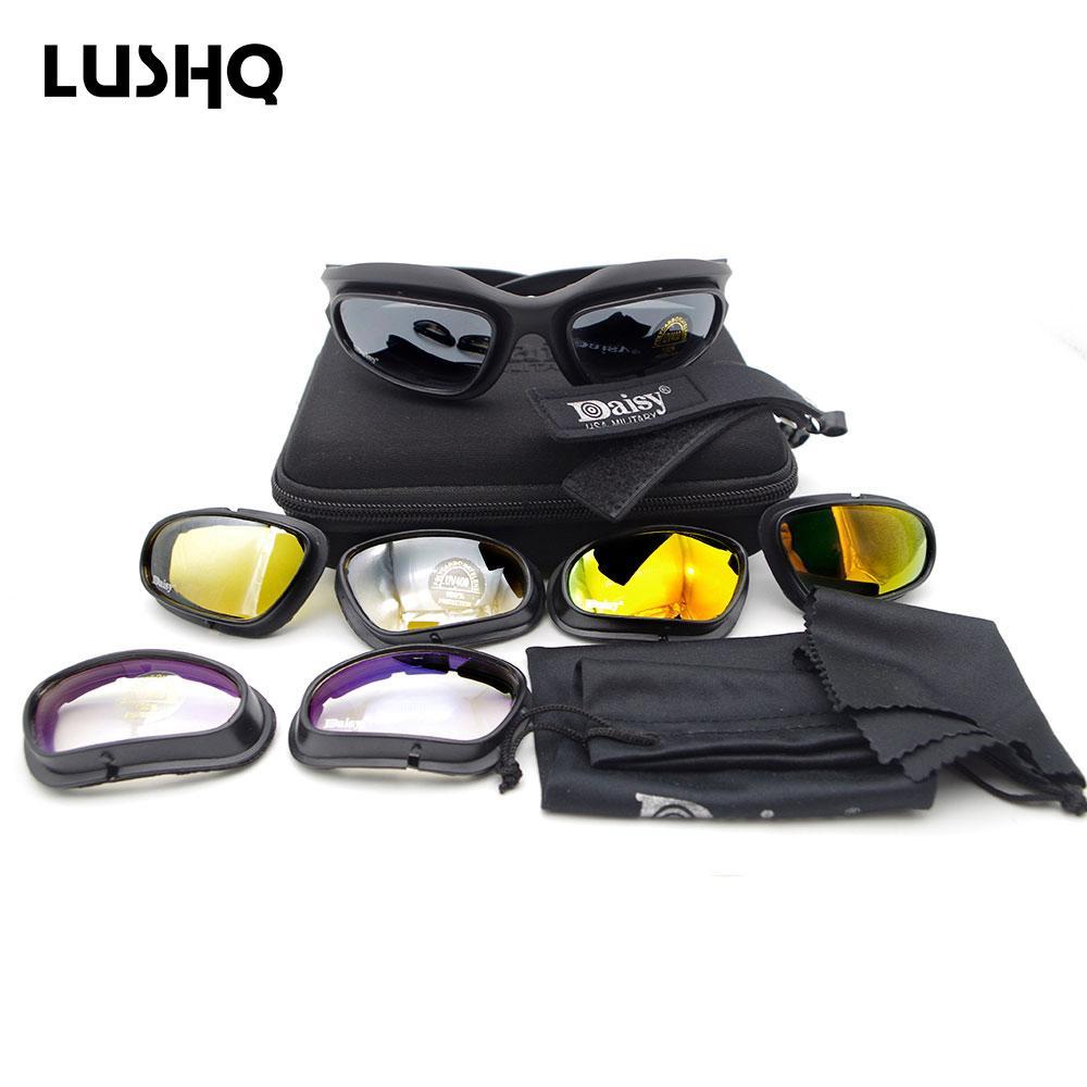 Lushh للدراجات النارية نظارات موتو نظارات gafas موتو steampunk نظارات استبدال متعدد الألوان 4 عدسة النظارات occhiali موتوكروس