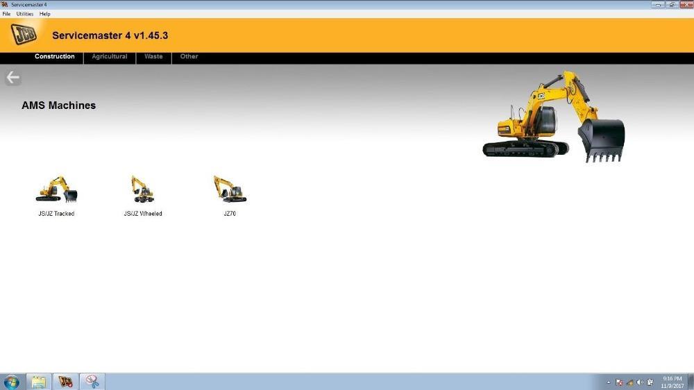 JIUSCAN الثقيلة JCB سيرفس 4 برنامج (1.45.3) لJCB تشخيص KIT (DLA) الخدمة الإلكترونية أداة كيت