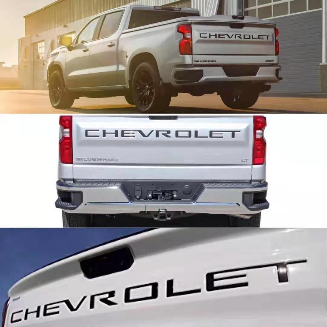 Car Styling Chevrolet Chevy Silverado Tail Lettera Car Fender porta tronco distintivo dell'emblema della decalcomania per Chevrolet Chevy Sliverado