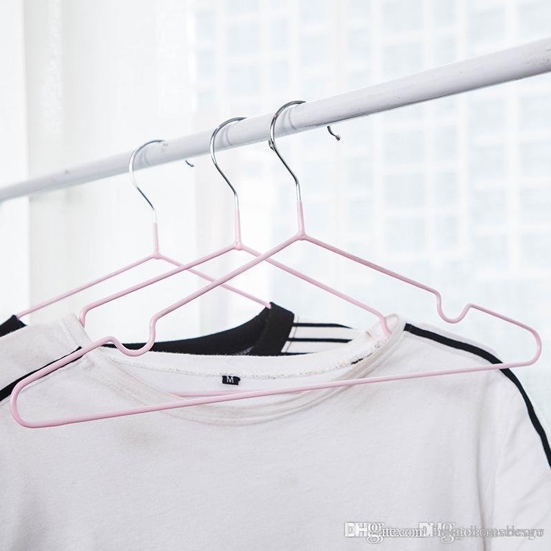 Clothes Suporte Durable Thicken gancho home metal Hanger Windproof Anti-skid pendurar roupas impermeáveis cremalheira No Trace BC BH1573