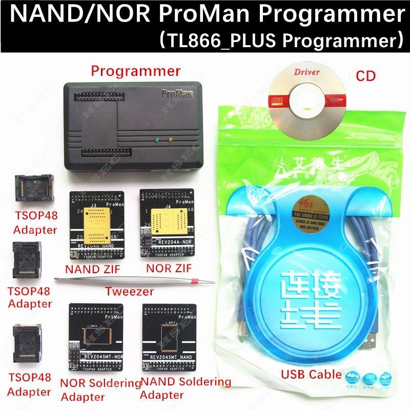 XGecu ProMan Professional nand 플래시 프로그래머 / NAND NOR TSOP48 FLASH 프로그래머 TL866 PLUS 프로그래머 / 높은 프로그래밍 속도