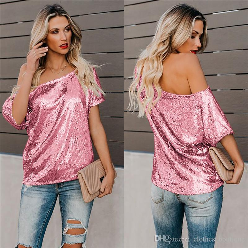 Size US 18 Women Cold Shoulder Short Sleeve T-Shirt Summer Casual Tee Top Blouse