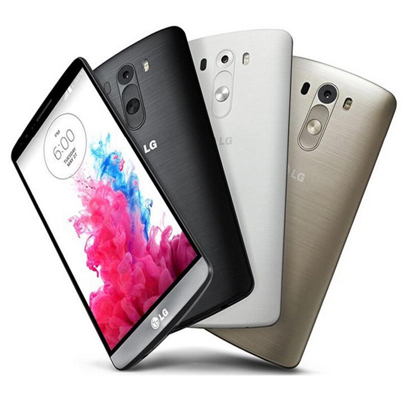 Refurbished Original LG G3 D850 D855 4G LTE 5.5 inch Quad Core 2/3GB RAM 16/32GB ROM 13MP Unlocked Android Smart Phone Free DHL 5pcs