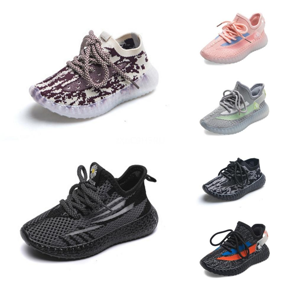 2020 Baby-Kind-Lehm-V2 Laufschuhe Kanye West Blakc Static 3M Reflective Zebra Beluga 2.0 Jungen-Mädchen-Sport-Turnschuhe 26-350D3B # # 220