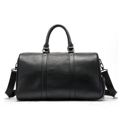 Venta caliente de cuero de lujo Capacidad de equipaje Tote Travel Travel Gran bolsa genuina Hombres Duffle Funtional Cowhide Casual Handbag XLRXE