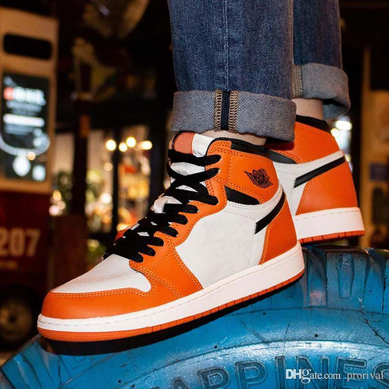 Wholesale Mens 1 High OG Basketball Shoes 1s NRG Igloo Banned Chameleon Shadow White Black Print Chicago Royal Track Red Sneakrs Trainers