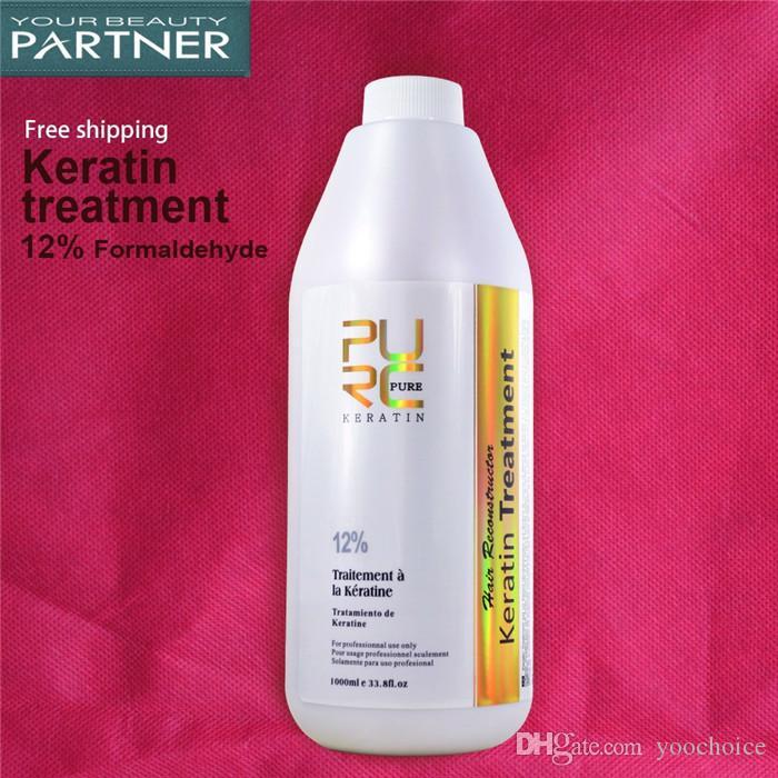 PURC бразильский кератин лечение волос 1000 мл формалин 12% глубокий ремонт поврежденные вьющиеся волосы выпрямление волос салон